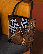 Racing Leather Pattern Print V2 All-over Tote aos-all-over-tote-lifestyle-front-02