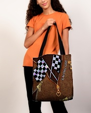 Racing Leather Pattern Print V2 All-over Tote aos-all-over-tote-lifestyle-front-06