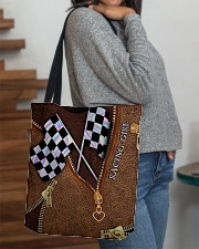 Racing Leather Pattern Print V2 All-over Tote aos-all-over-tote-lifestyle-front-09