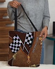 Racing Leather Pattern Print V2 All-over Tote aos-all-over-tote-lifestyle-front-10