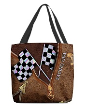 Racing Leather Pattern Print V2 All-over Tote back