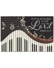 """Piano As For Me And My House Doormat 22.5"""" x 15""""  front"""