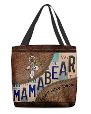 Mama bear respect caring courage All-over Tote front