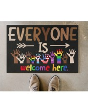 "Lgbt Everyone Is Welcome Here Doormat 22.5"" x 15""  aos-doormat-22-5x15-lifestyle-front-04"