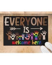 "Lgbt Everyone Is Welcome Here Doormat 22.5"" x 15""  aos-doormat-22-5x15-lifestyle-front-05"