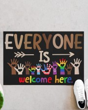 "Lgbt Everyone Is Welcome Here Doormat 22.5"" x 15""  aos-doormat-22-5x15-lifestyle-front-06"