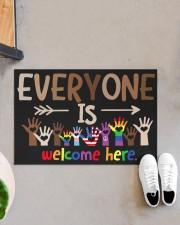 "Lgbt Everyone Is Welcome Here Doormat 22.5"" x 15""  aos-doormat-22-5x15-lifestyle-front-07"
