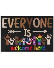 "Lgbt Everyone Is Welcome Here Doormat 22.5"" x 15""  front"