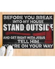 "Firefighter Jesus Before You Break Into My House  Doormat 22.5"" x 15""  aos-doormat-22-5x15-lifestyle-front-03"