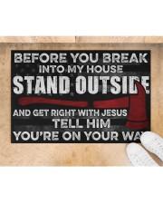 "Firefighter Jesus Before You Break Into My House  Doormat 22.5"" x 15""  aos-doormat-22-5x15-lifestyle-front-05"