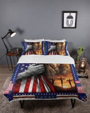 Jesus And Lion The Perfect Combination Queen Quilt Bed Set aos-queen-quilt-bed-set-lifestyle-front-03