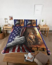 Jesus And Lion The Perfect Combination Queen Quilt Bed Set aos-queen-quilt-bed-set-lifestyle-front-04