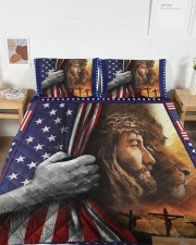 Jesus And Lion The Perfect Combination Queen Quilt Bed Set aos-queen-quilt-bed-set-lifestyle-front-04a