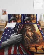 Jesus And Lion The Perfect Combination Queen Quilt Bed Set aos-queen-quilt-bed-set-lifestyle-front-05a