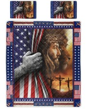 Jesus And Lion The Perfect Combination Queen Quilt Bed Set front