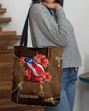 Puerto Rico Leather Pattern Print All-over Tote aos-all-over-tote-lifestyle-front-09