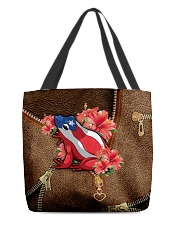 Puerto Rico Leather Pattern Print All-over Tote back