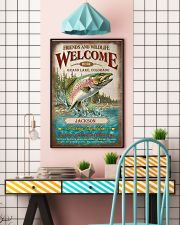 Personalized Fishing Expedition Welcome Here 11x17 Poster lifestyle-poster-6