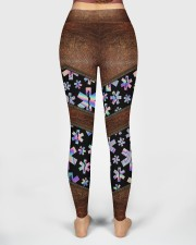 EMT Leather Pattern Print  High Waist Leggings aos-high-waist-leggings-lifestyle-02