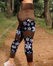 EMT Leather Pattern Print  High Waist Leggings aos-high-waist-leggings-lifestyle-21