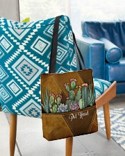 Pot Head Leather Pattern Print All-over Tote aos-all-over-tote-lifestyle-front-01