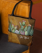 Pot Head Leather Pattern Print All-over Tote aos-all-over-tote-lifestyle-front-02