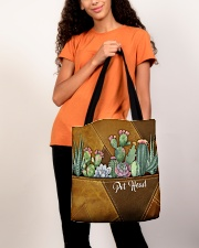 Pot Head Leather Pattern Print All-over Tote aos-all-over-tote-lifestyle-front-06