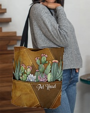 Pot Head Leather Pattern Print All-over Tote aos-all-over-tote-lifestyle-front-09
