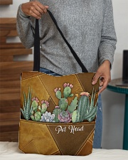 Pot Head Leather Pattern Print All-over Tote aos-all-over-tote-lifestyle-front-10