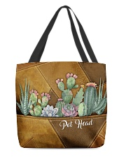 Pot Head Leather Pattern Print All-over Tote back