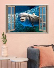 Dolphin Window View 36x24 Poster poster-landscape-36x24-lifestyle-18