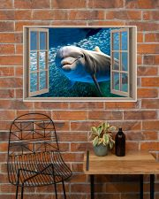 Dolphin Window View 36x24 Poster poster-landscape-36x24-lifestyle-20