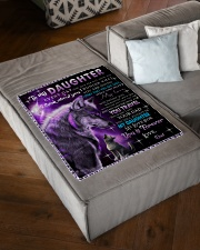 """To My Daughter Wolf Dad Small Fleece Blanket - 30"""" x 40"""" aos-coral-fleece-blanket-30x40-lifestyle-front-03"""