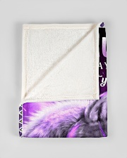 """To My Daughter Wolf Dad Small Fleece Blanket - 30"""" x 40"""" aos-coral-fleece-blanket-30x40-lifestyle-front-17"""