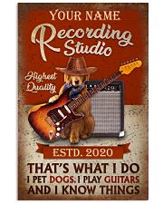 Personalized Guitar Dog That'S What I Do 11x17 Poster front
