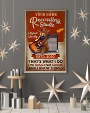 Personalized Guitar Dog That'S What I Do 11x17 Poster lifestyle-holiday-poster-1