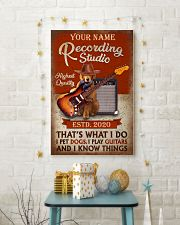 Personalized Guitar Dog That'S What I Do 11x17 Poster lifestyle-holiday-poster-3
