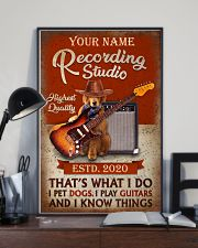 Personalized Guitar Dog That'S What I Do 11x17 Poster lifestyle-poster-2