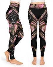Reel Girls Fish 3D Pattern Print High Waist Leggings front