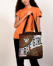 Horse Girl leather pattern print All-over Tote aos-all-over-tote-lifestyle-front-06