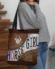 Horse Girl leather pattern print All-over Tote aos-all-over-tote-lifestyle-front-09