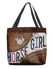 Horse Girl leather pattern print All-over Tote back