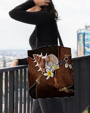 Love The Sea Leather Pattern Print All-over Tote aos-all-over-tote-lifestyle-front-05