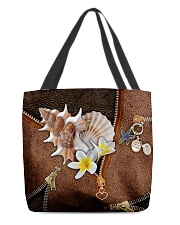 Love The Sea Leather Pattern Print All-over Tote back