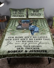 Personalized Trucker My Queen Forever Queen Quilt Bed Set aos-queen-quilt-bed-set-lifestyle-front-01a