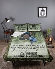 Personalized Trucker My Queen Forever Queen Quilt Bed Set aos-queen-quilt-bed-set-lifestyle-front-02