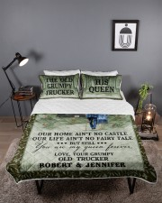 Personalized Trucker My Queen Forever Queen Quilt Bed Set aos-queen-quilt-bed-set-lifestyle-front-03
