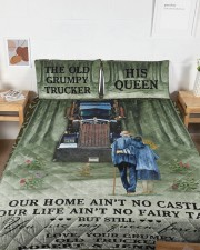 Personalized Trucker My Queen Forever Queen Quilt Bed Set aos-queen-quilt-bed-set-lifestyle-front-04a