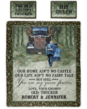 Personalized Trucker My Queen Forever Queen Quilt Bed Set front