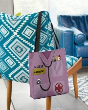 Personalized Nurse Shirt Pink All-over Tote aos-all-over-tote-lifestyle-front-01